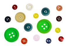 Buttons. On a white background Royalty Free Stock Photos
