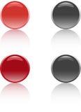 Buttons. Four color 3D effect web bottons Stock Image