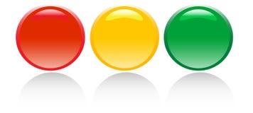 Buttons. Four color 3D effect web bottons Stock Photography