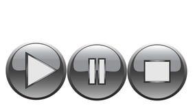 Buttons. Four color 3D effect web bottons Stock Photos