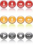 Buttons. Four color 3D effect web bottons Royalty Free Stock Photos