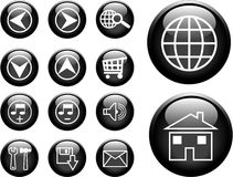 Buttons. 3D Buttons wth reflection. Vector version in my portfolio Stock Photo
