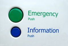 Buttons. For emergency and information Royalty Free Stock Images
