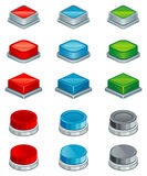 Buttons. Set of various colour buttons royalty free illustration