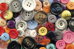 Buttons. Assorted colorful collection of buttons royalty free stock images