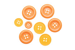 Buttons. Plastic buttons isolated on white background Royalty Free Stock Photo