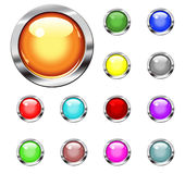 Buttons. Collection buttons in various colors royalty free illustration