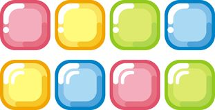 Buttons. Bright, shiny, colorful buttons with highlights Stock Images