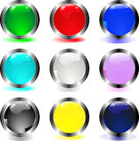 Buttons. Plain aqua buttons - internet buttons design vector illustration