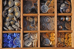Buttons. Different buttons sorted in letter case Royalty Free Stock Photos