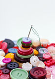 Buttons. Many colored buttons on the mirror surface Royalty Free Stock Photo