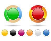 Buttons. Set of round buttons with arrows Royalty Free Stock Image