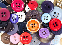 Buttons. A pile of colorful buttons Royalty Free Stock Photo