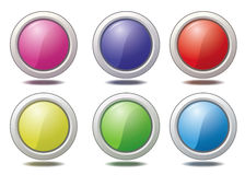 Buttons. Vector illustration of internet buttons Stock Images