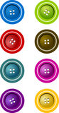 Buttons. In various colors (8 Stock Photo