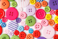 Buttons. Collection of colorful buttons for fashion Stock Photo