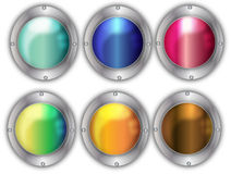 Buttons. Round buttons easy to resize or change color Royalty Free Stock Photos