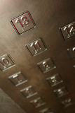 Buttons. Inside an elevator lift Stock Images