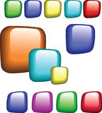 Buttons. Most popular colored web buttons Royalty Free Stock Images