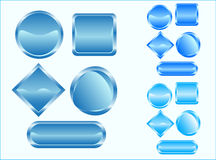 Buttons. Illustration of empty buttons, blue Stock Image