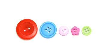 Buttons. Five colorful buttons Stock Photo