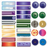 Buttons. And arrows of different colors for the web Royalty Free Stock Image