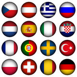 Buttons. Glossy buttons of european countries Royalty Free Stock Image