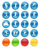 Buttons. Illustration of sport buttons.... morecolors Royalty Free Stock Image