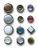 Buttons. Image of buttons on white background Stock Photos
