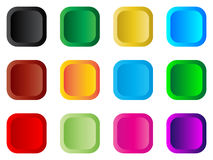 Buttons. Modern web buttons with simple gradient Stock Image