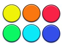 Buttons. A set of varies colors buttons Stock Image