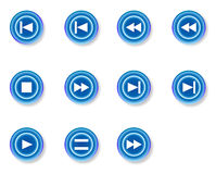 Buttons. Different types of buttons in blue color Royalty Free Stock Photo