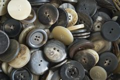 Buttons. A heap of many different buttons Stock Image