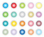 Buttons. Different colos buttons. illustrations work Stock Image