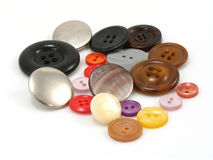 Buttons. Of different sizes, shapes and colors stock photography