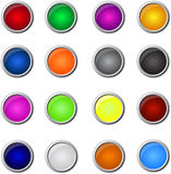Buttons. Variety of buttons  isolated on white background Stock Images