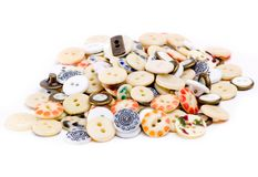 Buttons. Bunch of Buttons royalty free stock photography