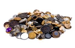 Buttons. Bunch of Buttons royalty free stock photos