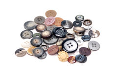 Buttons. Different types of buttons isolated on white background Stock Image