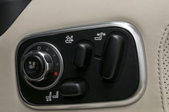 Buttons for adjusting seat. Stock Photography