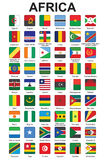 Buttons with African countries flags. Set of push buttons with African countries flags vector illustration Royalty Free Stock Image