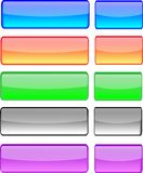 Buttons agua light. Illustration of web buttons, clean, glossy, colorful Royalty Free Stock Photos