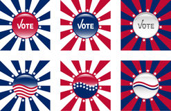 Buttons for American elections. Glassy buttons for American elections Royalty Free Stock Photos