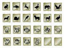 Buttons with animals Royalty Free Stock Images
