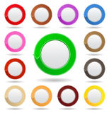 Buttons with arrows. Set of buttons with arrows on white background Royalty Free Stock Photography