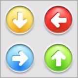 Buttons with arrows Royalty Free Stock Photos