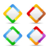 Buttons with arrows. Set of buttons with arrows on white background Stock Photography