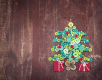Buttons as decorative Christmas tree Stock Photo