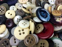 Buttons. Assorted buttons filling the frame Stock Image