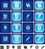 buttons av lampa för utbildningseffekt Royaltyfria Foton